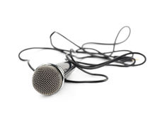 Black microphone composition isolated Stock Photos