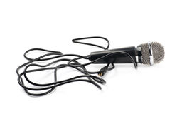 Black microphone composition isolated royalty free stock photos