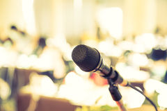 Black microphone ( Filtered image processed Royalty Free Stock Images