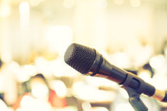 Black microphone  ( Filtered image processed Royalty Free Stock Photo