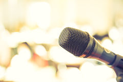 Black microphone( Filtered image processed Royalty Free Stock Photography