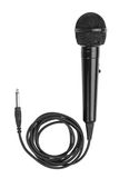Black microphone http://www.dreamstime.with a cord Royalty Free Stock Images