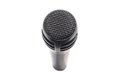 Black microphone. Isolated on white background Royalty Free Stock Photography