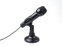Black microphone isolated on white Royalty Free Stock Image