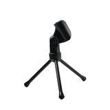 Black microphone rack stand isolated Royalty Free Stock Photography