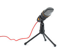 Black microphone with stand Stock Photos