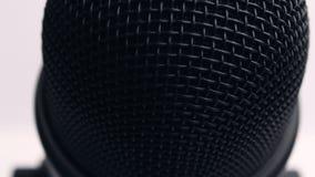 Black Microphone. Upward Slide Movement Video stock footage