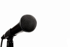 A black microphone on white Stock Photo