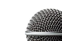 A black microphone on white Stock Photos