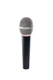 Black microphone on a white Royalty Free Stock Photo