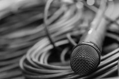 Black microphone Stock Photos