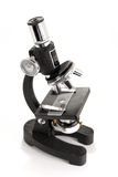 Black microscope isolated on white background royalty free stock images
