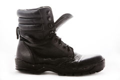 Black military boot Royalty Free Stock Image
