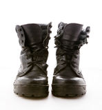 Black military boots Royalty Free Stock Photography