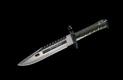 Black military knife Stock Image