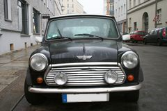 Black Mini Cooper Stock Photography