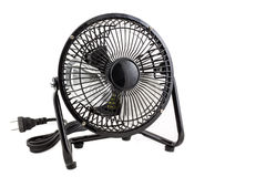The black mini electronic fan Royalty Free Stock Images