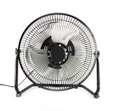 The black mini fan. To reduce some hot weather Stock Photo