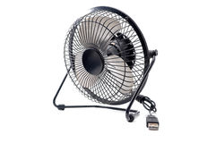 The black mini fan Royalty Free Stock Photos