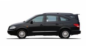 Black minibus Royalty Free Stock Photography