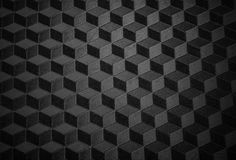 Black minimalistic texture. With striped cubes Royalty Free Stock Image