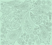 Black mint indian pattern. Vector. Arabic ornament Royalty Free Stock Images