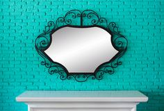 Table and mirror Royalty Free Stock Photo