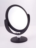Black Mirror with Stand. Mirror for the bathroom, luxury goods Stock Photography