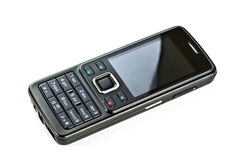Black mobile phone Royalty Free Stock Photography