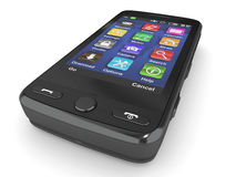 Black mobile phone. 3d Royalty Free Stock Photography