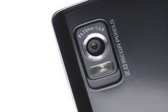 Black mobile phone with camera Stock Photography