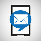 Black mobile phone email network. Vector illustration eps 10 Royalty Free Stock Photography