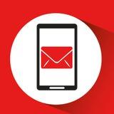 Black mobile phone email network. Vector illustration eps 10 Stock Images