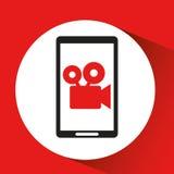 Black mobile phone film camera network. Vector illustration eps 10 Stock Photography