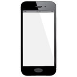 Black Mobile Phone Hand Drawn Vector Illustration. Isolated on white background Royalty Free Stock Photo