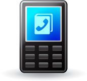 Black mobile phone icon Stock Photography