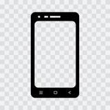 Black mobile phone icon. Vector illustration stock illustration