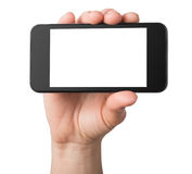 Black mobile phone isolated Stock Photos