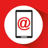 Black mobile phone mail web network. Vector illustration eps 10 Royalty Free Stock Photos