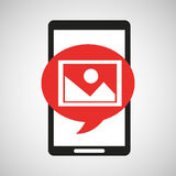 Black mobile phone photo image network Royalty Free Stock Images