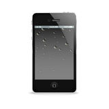 Black mobile phone template Stock Photo
