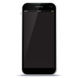 Black Mobile Phone Vector Illustration Stock Photography