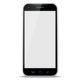 Black Mobile Phone Vector Illustration Royalty Free Stock Images