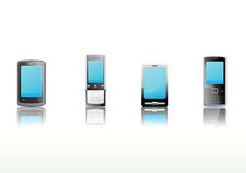 Black mobile phones icon set Royalty Free Stock Image