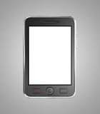 Black mobile smart phone Stock Images
