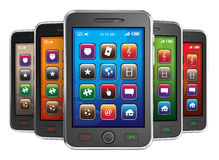 Black Mobile Smart Phones Royalty Free Stock Images