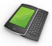 Black mobile smartphone - 3d render Stock Photos