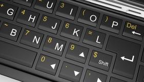 Black mobile smartphone - 3D render Stock Photography