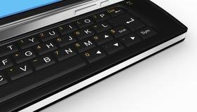 Black mobile smartphone - 3d render Stock Image