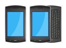 Black mobile smartphone - 3d render Royalty Free Stock Images